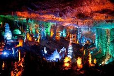 Stalactite Cave In Israel