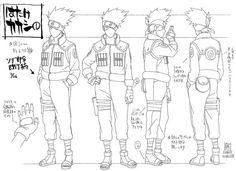 Como dibujar a Kakashi Hatake (rostro y cuerpo) Naruto Shippuden Naruto Drawings, Art Naruto, Naruto Sketch, Manga Naruto, Naruto Vs Sasuke, Kakashi Sensei, Character Model Sheet, Character Modeling, Character Turnaround