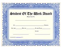 Recognize top students in your class on a weekly basis by giving the student a printable Student of the Week award certificate. Printable Certificates, Award Certificates, Certificate Templates, Student Of The Week, Student Awards, Kids Learning Activities, Free Printables, English, School