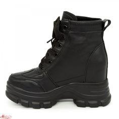 Ghete cu Platforma Dama QQ11 Black (000) Mei Combat Boots, Army, Search, Shoes, Fashion, Gi Joe, Moda, Zapatos, Military