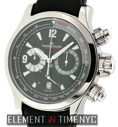 Jaeger-LeCoultre Master Compressor Chronograph 41mm iN Stainless Steel With A Black Arabic Dial (175.84.70)