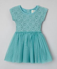 Dusty Turquoise Dress - Infant, Toddler & Girls