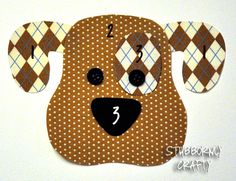 Dog Applique Pattern | Stubbornly Crafty. this makes me think that a guitar or ukulele case could be made cuter with a dog on it.