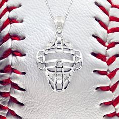 Baseball Catcher Pendant Necklace