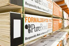PureBond hardwood plywood is formaldehyde-free. This reduces interior formaldehyde emissions compared to plywood made from traditional technology. These panels are all CARB P2 compliant and contribute points to LEED® and other green building standards, too. Click through for more on this innovative, eco-friendly product sold at The Home Depot