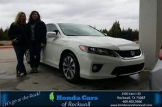 https://flic.kr/p/F8B2G4 | Happy Anniversary to Kylie on your #Honda #Accord Coupe from Vincent Salazar at Honda Cars of Rockwall! | deliverymaxx.com/DealerReviews.aspx?DealerCode=VSDF