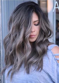 Mushroom Brown & Ash Blonde Beach Waves Haircuts for Women 2018