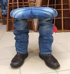 Sit On My Lap Chair in Blue Jeans