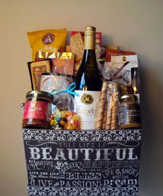 $150 Custom gift basket created by pinkshark.ca! This beautiful basket has a fabulous bottle of Okanagan wine from Camelot Vineyards and an array of sweet and savory goodies! Fabulous pinkshark.ca when only the best will do! Call or text 250.808.8500 info@pinkshark.ca www.pinkshark.ca Follow us on Facebook, Twitter @Mary Powers Powers Jane Touchstone.ca www.pinkshark.ca and on Pinterest!