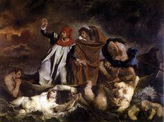 Eugène Delacroix - La barca di Dante. Sul finire del XVIII secolo iniziarono ad apparire sempre più frequentemente quadri il cui soggetto era tratto dal mondo del mito, del teatro o della letteratura. Già Fusli aveva dedicato alcune delle sue opere a personaggi di teatro mutuati da Shakespeare.