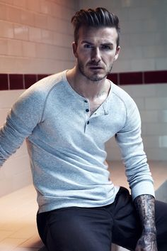 David Beckham models his bodywear line for H [Courtesy Photo]