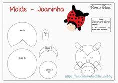 Materiales gráficos Gaby: Muñecos mariquita en fieltro con patrones