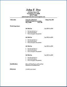 Resume Basic Resume Templates | Download Resume Templates