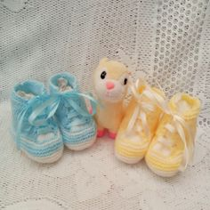 Baby's Hand Knitted Trainer Style Boots, Gift Ideas for Baby, Boots for 3-9 mths £8.00 Boots Gifts, Baby Hands, Baby Boots, Beautiful Gifts, Baby Baby, Hand Knitting, Trainers, Dance Shoes, Slippers