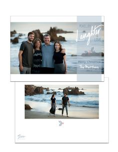 Beachy & White Holiday Card www.figgestudio.com