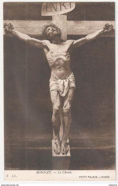 """Carte Postale Ancienne """"The Crucifixion"""" - Leon BONNAT Petit Palais-Paris France."""