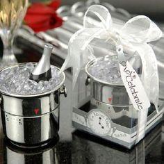 letu0027s celebrate champagne bucket timer favors