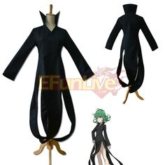 One Punch Man dress Tatsumaki Black Dress Cosplay Costume - EFunlive
