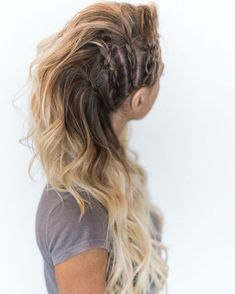 Festival Hair Hacks And Easy Step By Step Tutorial Lists That Are Easy And Beaut. - Your Hair Lagertha Hair, Vikings Lagertha, Lagertha Costume, Hair Day, Hair Looks, Pretty Hairstyles, Funky Hairstyles For Long Hair, Perfect Hairstyle, Amazing Hairstyles