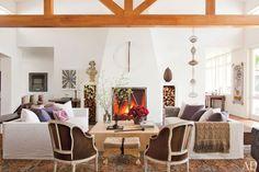 The living room of Ellen DeGeneres and Portia de Rossi's Beverly Hills house.