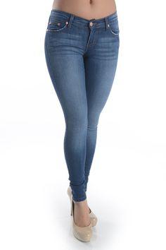 Medium Wash Denim Skinny Jeans