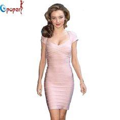Women elegant cap sleeve bandage dress sexy club dress short dresses 2016 mini celebrity pink party dress dropshipping HL1315  #dress #iwant #style #stylish #fashionista #instastyle #fashion #instafashion #glam #streetstyle