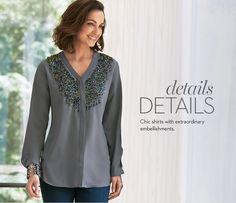 Camisas (Blusas) elegantes con adornos extraordinarios.