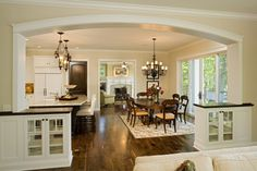 love the openness to the kitchen!