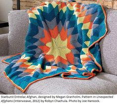 Starburst Entrelac Afghan from Unexpected Afghans
