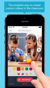 Even kindergarten/first graders can create videos with this app which is very intuitive and easy to use.