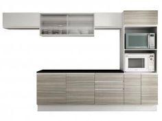 Cozinha Compacta Madesa Glamy Lazio com Balcão - 9 Portas 3 Gavetas
