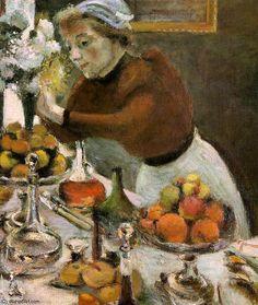 """""""mesa de jantar (detalhe) -"""", 1897 por Henri Matisse (1869-1954, France)"""