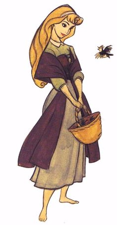 Sleeping Beauty concept art. How adorable! THIS is aurora, not those stupid disney princess redesigns