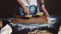 Making Pear and Walnut Strudle.  ALL PHOTOGRAPHS BY DARIA KHOROSHAVINA AND OLYA KOLESNIKOVA.