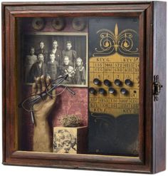 "The Joseph Cornell Box www.josephcornell...  Evidence, 2011 Susan McCarrell (South Okanagan, British Columbia) mixed media 12.3"" x 12.3"" x 3.2"" (31.2 x 31.2 x 8.1 cm) www.susanmccarrel... susan-mccarrell.a...  In my exploration of art, I look for versatile solutions to all challenges that are presented. I am not drawn to any one formula."