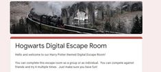 Hogwart digital Escape Room Escape Room, Hogwarts, Harry Potter, Public, Digital, Fun, Home, Hilarious