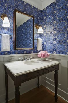 Powder Room | Southwood Drive residence | Martha O'Hara Interiors, Interior Design  Photo Styling | Kyle Hunt  Partners, Builder | Corey Gaffer Photography | For more information on any of the products in this photo, please contact design@oharainteriors.com.