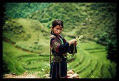 HMong Meisje (gemaakt in Noord Vietnam)