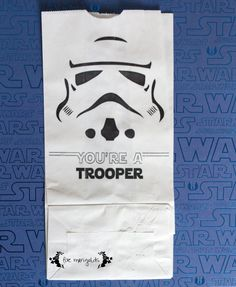 Free Printable Star Wars Birthday Party Storm Trooper Favor Bags | www.fivemarigolds.com