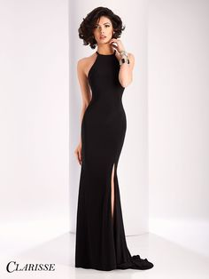 Clarisse elegant simple Cut Out Back long Prom Dress 3106 | Promgirl.net