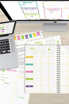 A teacher planner you can access on your desktop, iPad, and iPhone.  The ultimate in organization, motivation, and simplicity.  Cheerful colors.  You can edit all the documents right on your computer or you can handwrite in your plans.  The teacher that created this planner thought of everything.  A teacher must have.