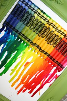 Sandy Toes and Popsicles: Back to School: Melted Crayon Art