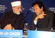 Dr Tahir-ul-Qadri and Imran Khan at World Economic Forum's Annual Meeting 2011 in Davos