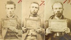 Three mugshots of men