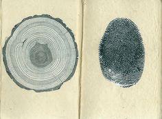 tree print and finger print