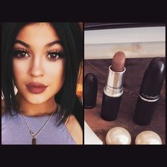 The 'Velvet Teddy' lipstick has been sold out in #MAC stores for ages now after popular demand --- However, lately @kyliejenner has been rocking a similar colour to Velvet Teddy, just slightly darker to give us that perfect 90's mauve lip. ❤️ She's been wearing 'Spirit' by MAC ... So if you weren't lucky enough to purchase 'Velvet Teddy', Defo get your hands on 'Spirit' :) @maccosmetics #kyliejennerlip