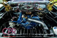 Engine compartment from a recently restored 1961 Cadillac deVille convertible - www.cprforyourcar.com