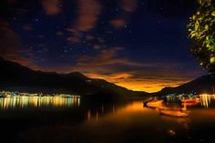 Lake Como by night