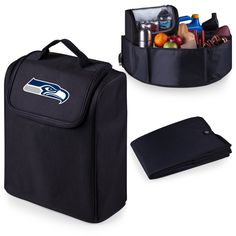 Seattle Seahawks 'Trunk Boss' Organizer with Cooler-Black Digital Print