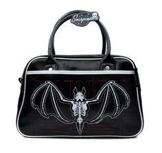 Too Fast Halloween Bats Gothic Punk Canvas Pistol Belt Tote Bag Purse APPI-BATS